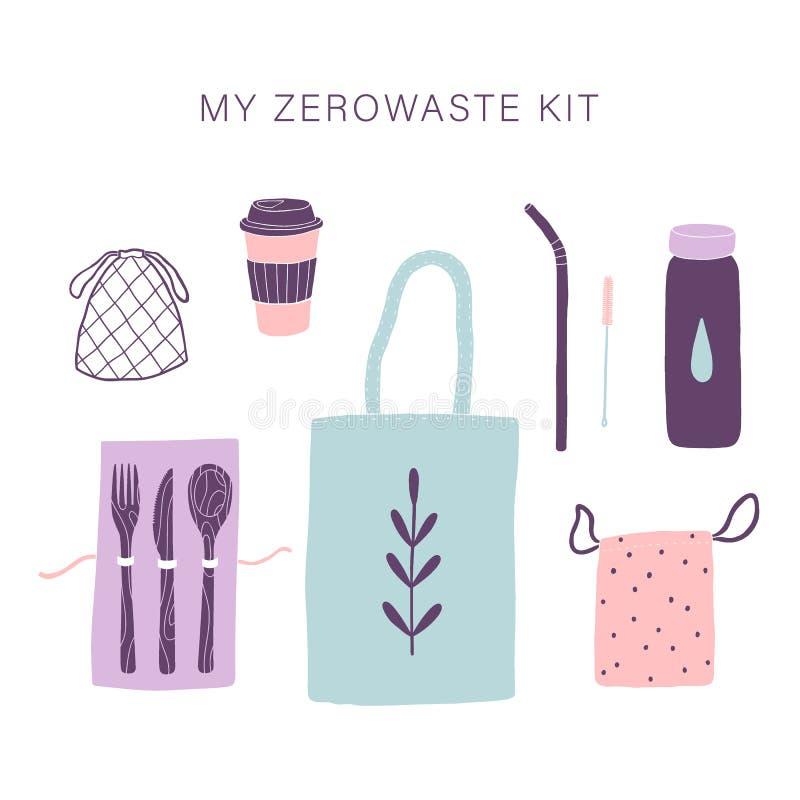 Zero waste everyday kit. stock photos