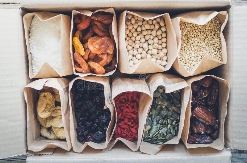 Zero Waste Food Storage Eco Bag Top View stock image