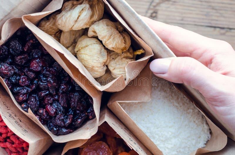 Zero Waste Food Storage Eco Bag Top View stock photos