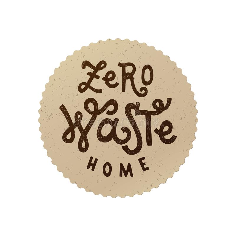 Zero waste home emblem vector illustration