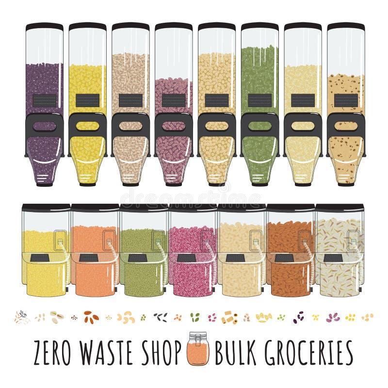 Zero Waste shop fotografering för bildbyråer