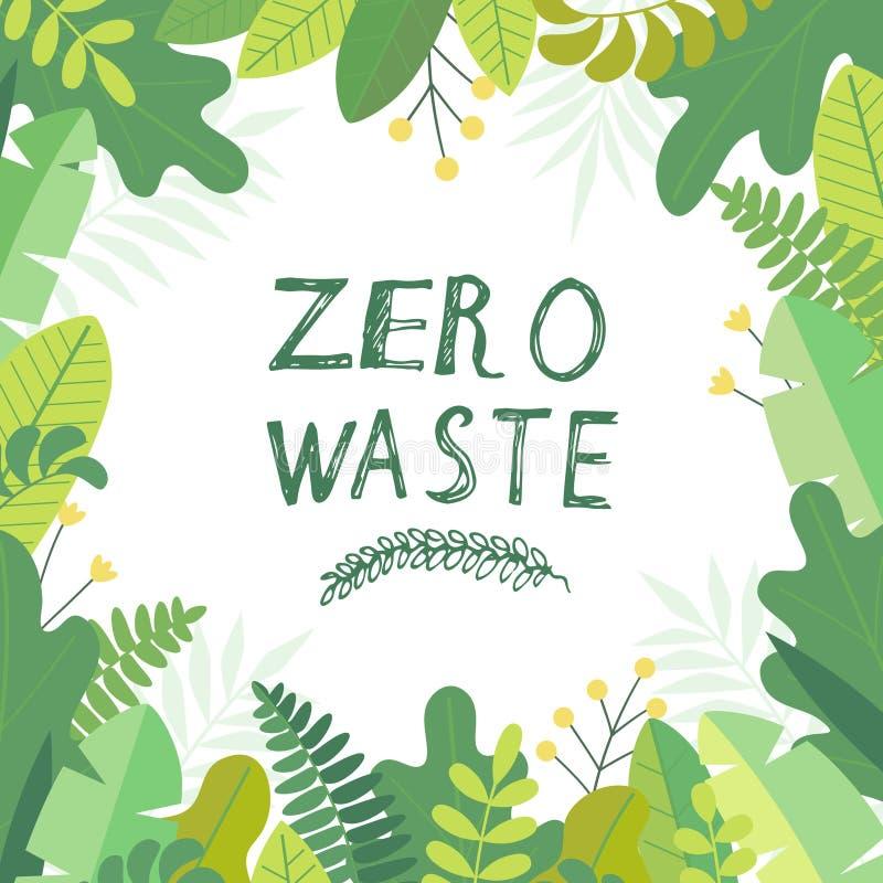 Zerowaste illustration libre de droits