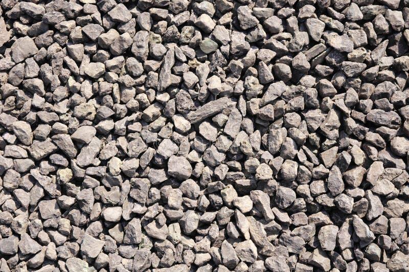 Zerquetschte Stein-, braune Kiesnahaufnahme stockbilder