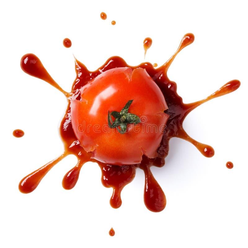 Zerquetschte Tomate lizenzfreies stockbild