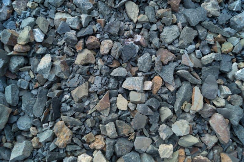 Zerquetschter Stein als Hintergrund, Beschaffenheit stockfoto
