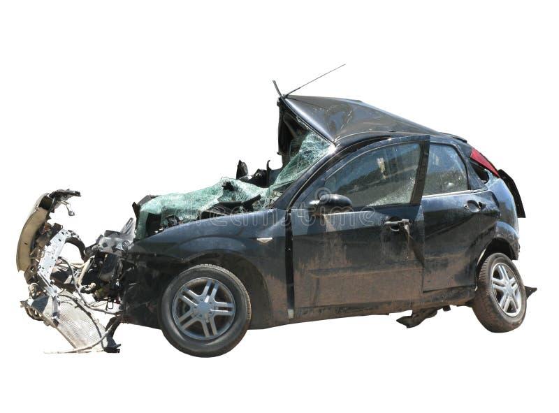 Zerquetschtes Auto stockfotografie