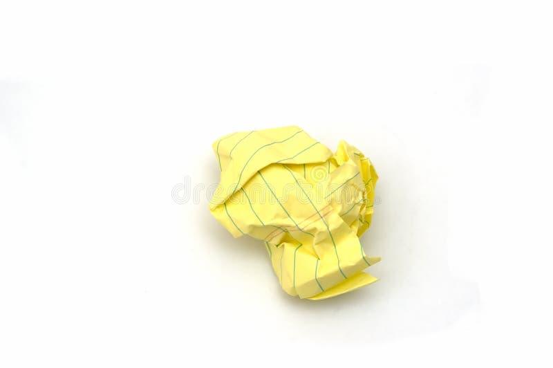 Zerquetschtes Papier lizenzfreies stockbild