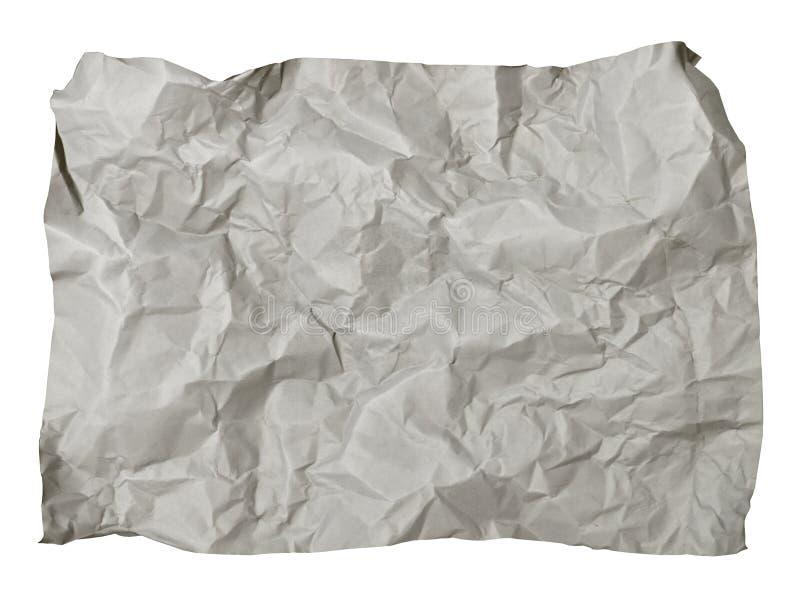 Zerquetschtes Papier stockbild