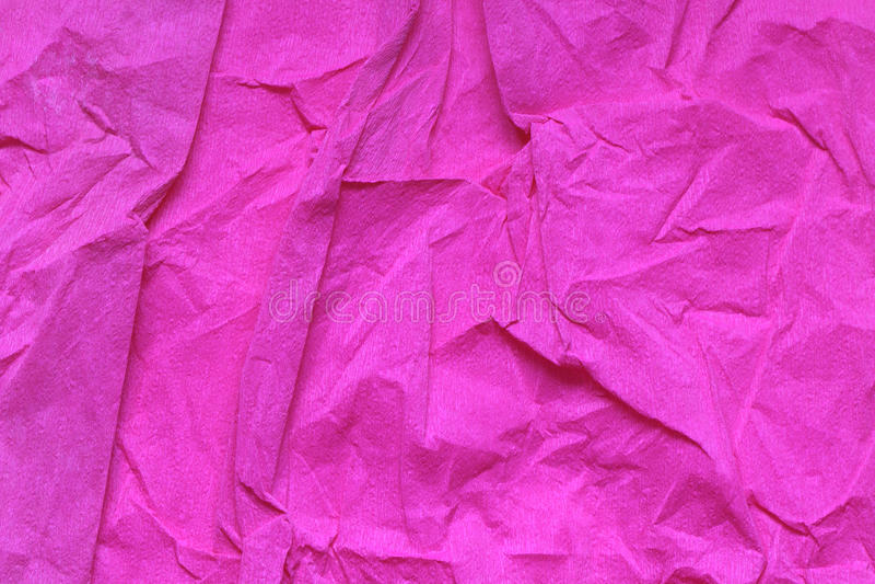 Zerquetschtes rosafarbenes Papier lizenzfreies stockfoto