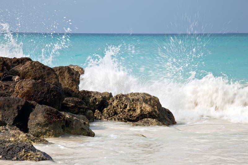 Zerquetschung der Wellen stockbild