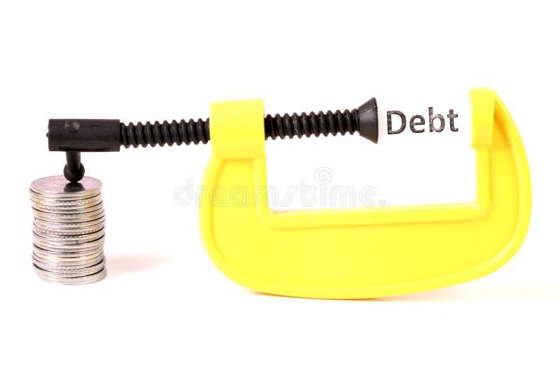 Zerquetschung von Schulden stockbilder