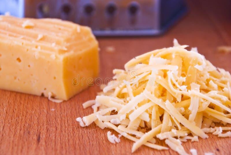 Zerriebener Käse stockfotografie