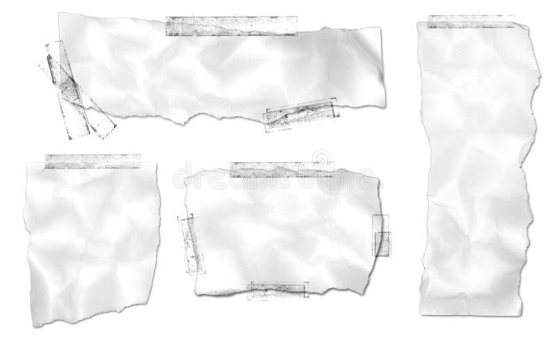 Zerrissene Papieransammlung mit Band lizenzfreie stockbilder