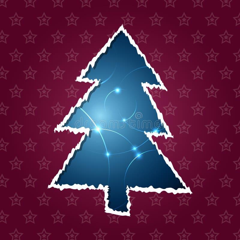 Zerrissener Weihnachtsbaum stock abbildung