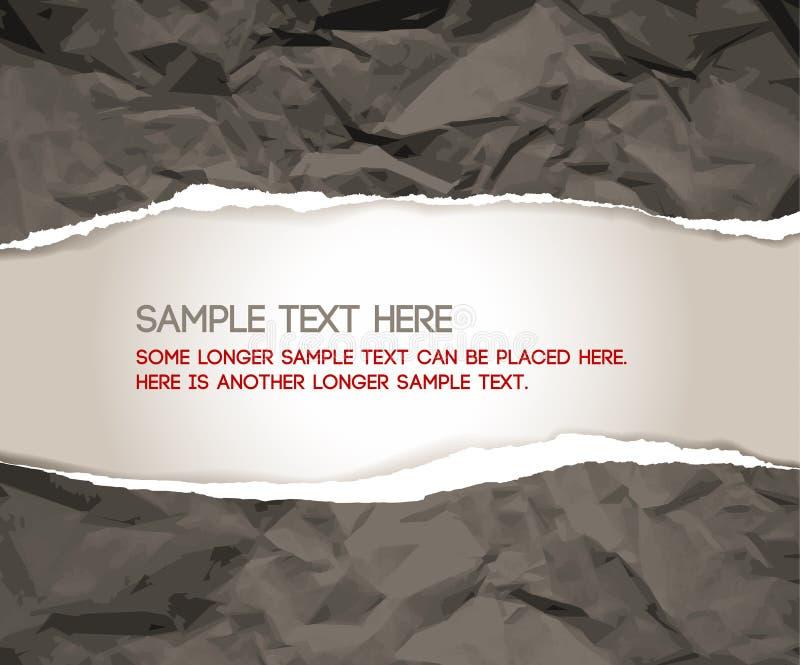 zerrissenes Papier stock abbildung