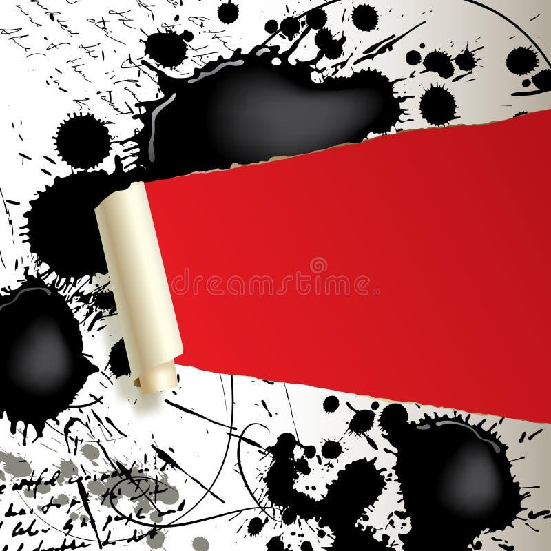 Zerrissenes Papier mit Flecken lizenzfreie abbildung