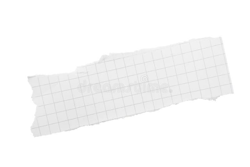 Zerrissenes Stück quadriertes Papier stockbild