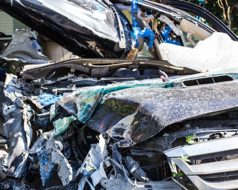 Zerschmettern Sie Auto stockfotografie