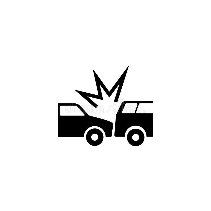 Zerschmetterte Auto-flache Vektor-Ikone lizenzfreie abbildung