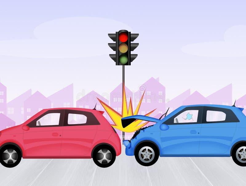 Zerschmetterte Autos vektor abbildung