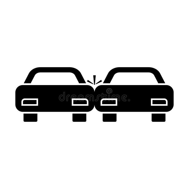Zerschmetterte schwarze Ikone der Autos Farb lizenzfreie abbildung