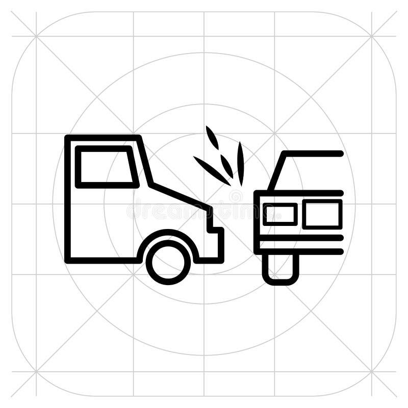 Zerschmetterter Autovektor Weißer Hintergrund für Webdesign Ikonenrichtlinie vektor abbildung