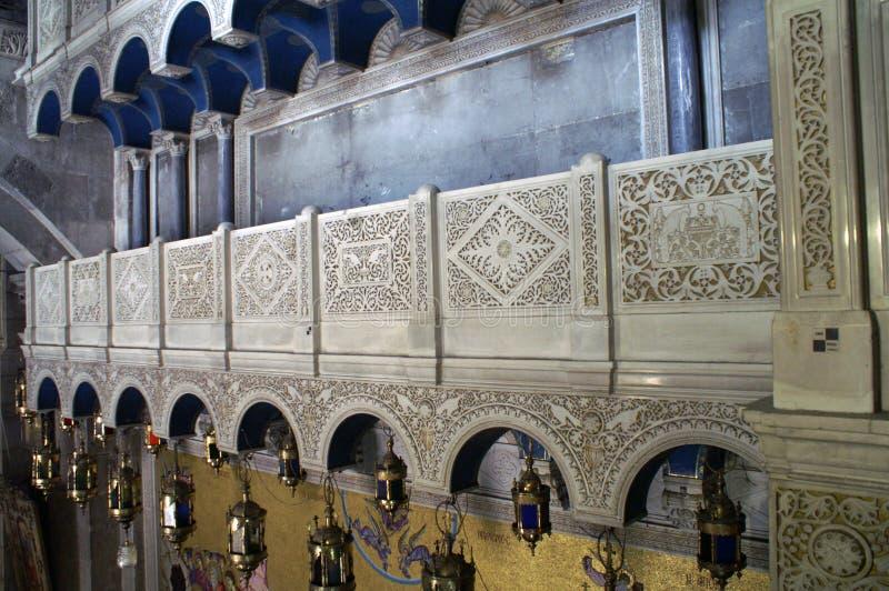 Zersplittern Sie die Kirche des heiligen Grabes, das auch die Kirche der Auferstehung genannt wird, ist eine Kirche in Christian  stockfotografie