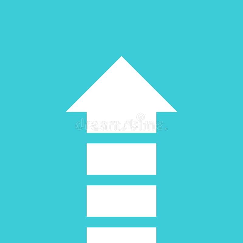 Zersplitterter Pfeil, Wachstum, Teamwork stock abbildung