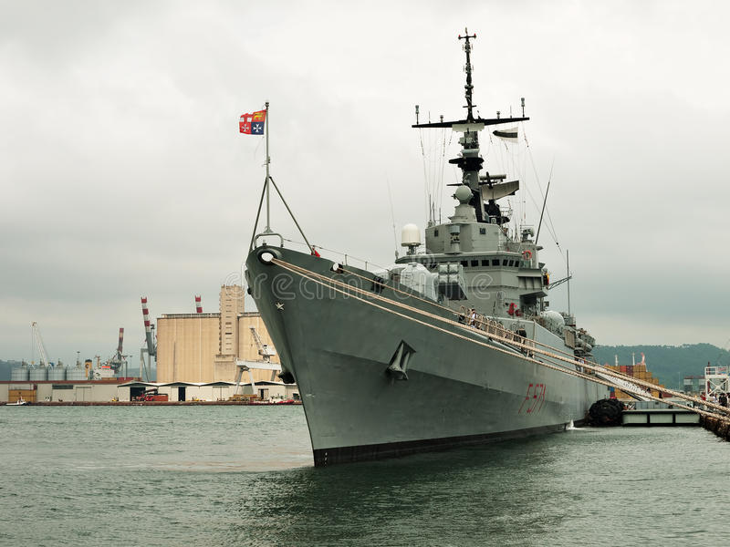 Zerstörer der italienischen Marine - Grecale lizenzfreies stockbild