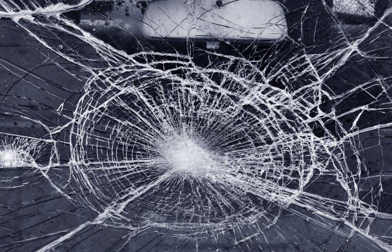 Zerstörte Fensterscheibe stockfotografie