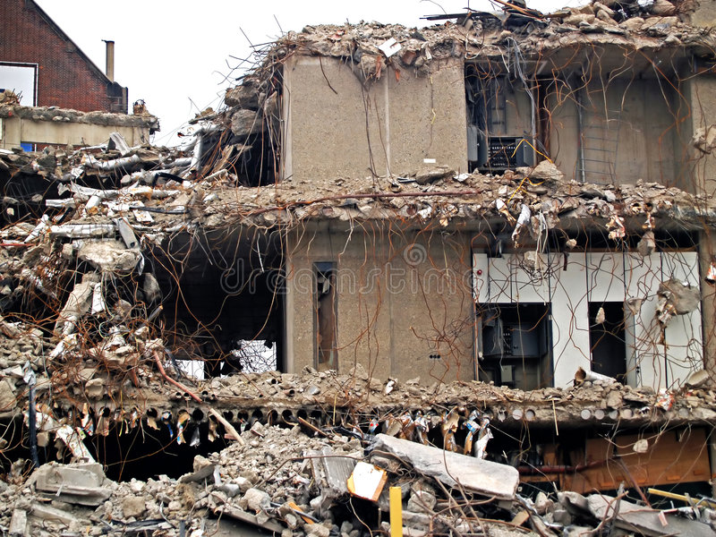 Zerstörtes Gebäude lizenzfreie stockfotografie
