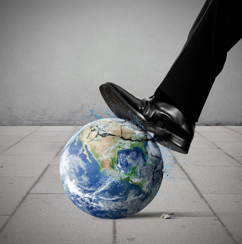 Zerstörung der Welt lizenzfreie stockfotos