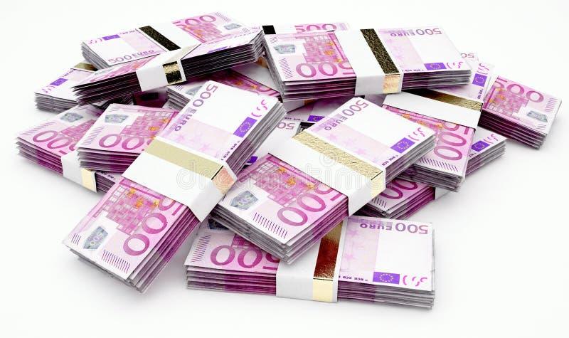 Zerstreute Banknoten-Stapel vektor abbildung