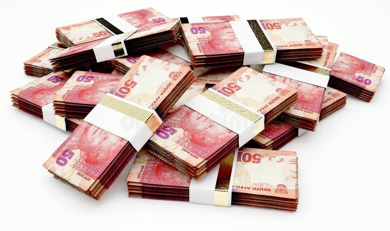 Zerstreute Banknoten-Stapel stock abbildung
