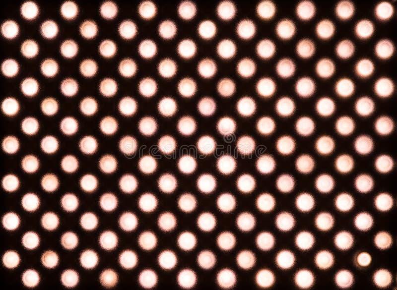 Zerstreute rote LED-Lichter stockfotografie