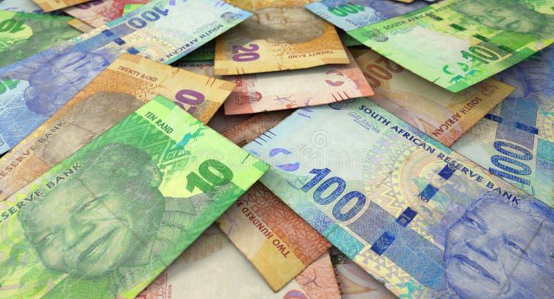 Zerstreuter Banknoten-Stapel lizenzfreies stockbild