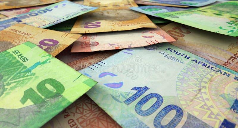 Zerstreuter Banknoten-Stapel stockbild