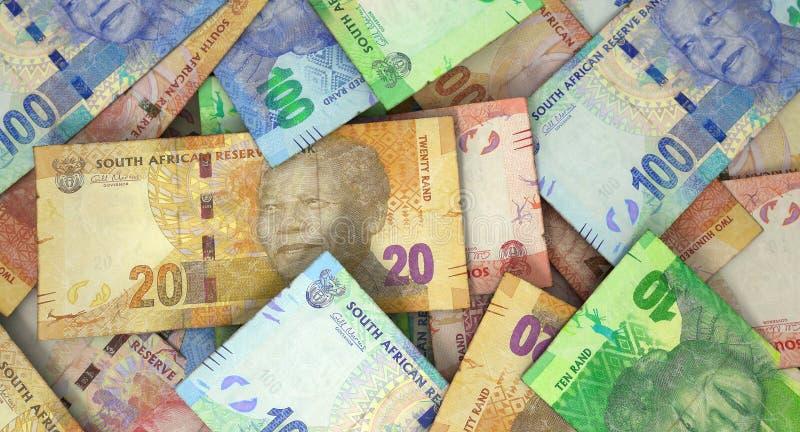 Zerstreuter Banknoten-Stapel stockfotos