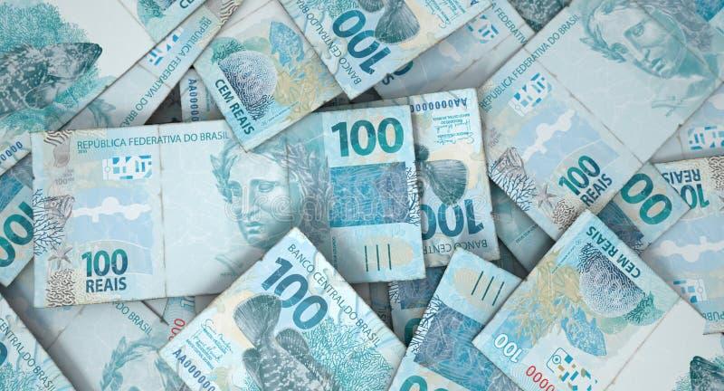Zerstreuter Banknoten-Stapel lizenzfreie stockbilder