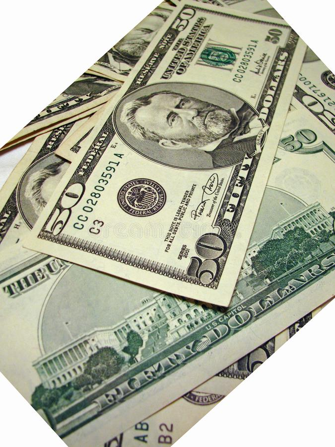 Zerstreutes Geld stockfoto