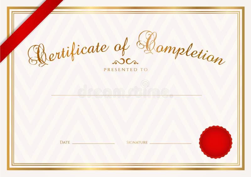 Zertifikat-/Diplomhintergrund (Schablone) lizenzfreie abbildung