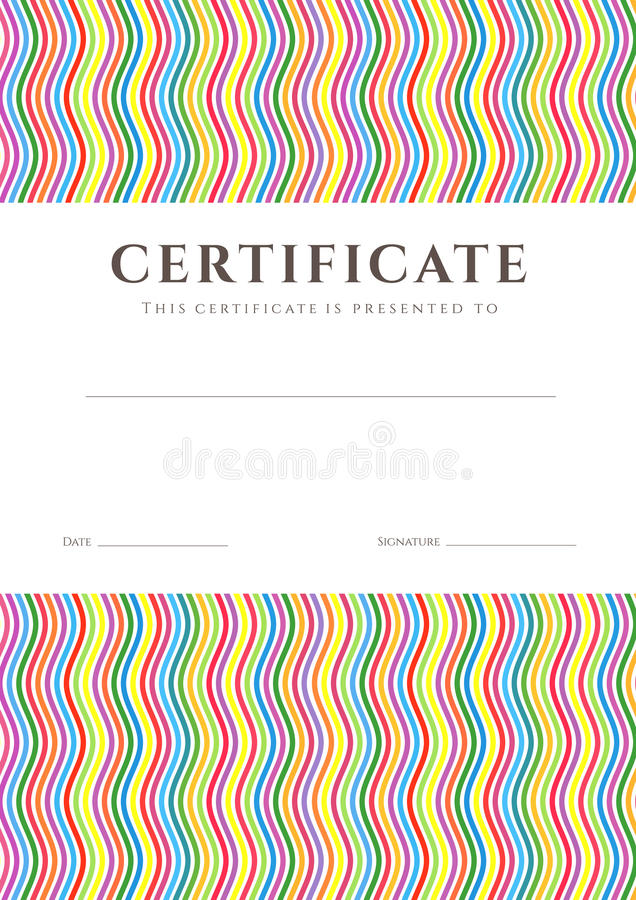 Zertifikat-/Diplomhintergrundschablone. Muster lizenzfreie abbildung