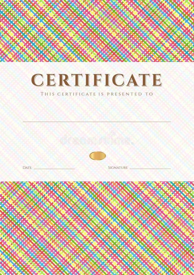 Zertifikat-/Diplompreisschablone. Muster Vektor Abbildung ...
