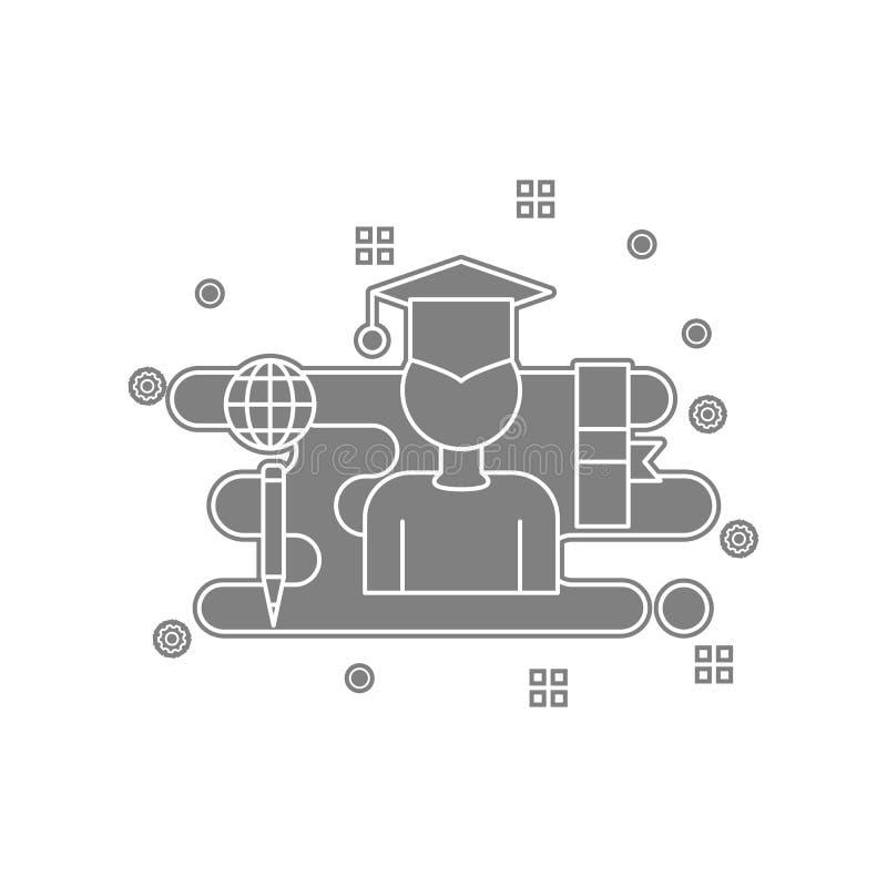 Zertifikat, Grad, Diplomikone Element von popicon für bewegliches Konzept und Netz Appsikone Glyph, flache Ikone für Websiteentwu stock abbildung
