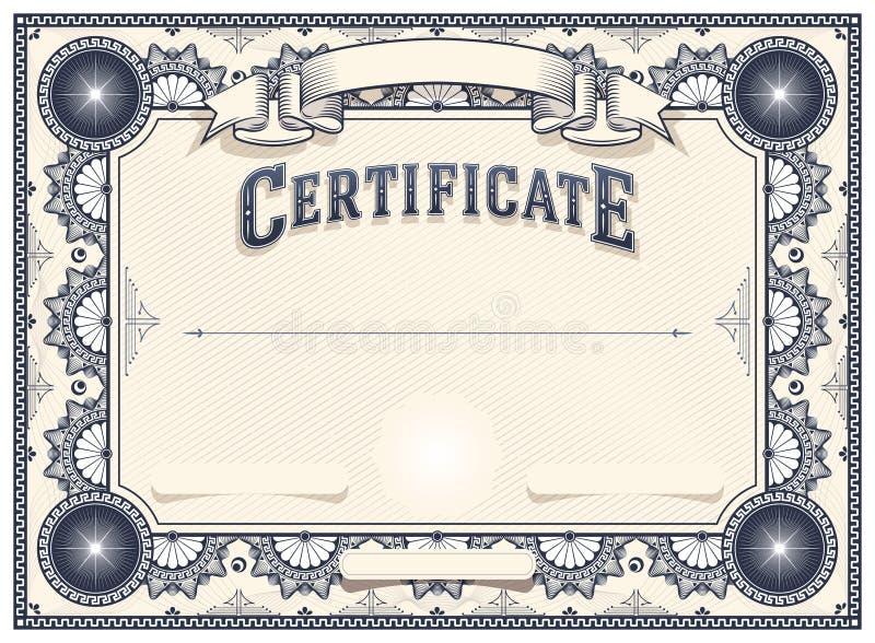 Zertifikat-oder Diplom-Schablone vektor abbildung