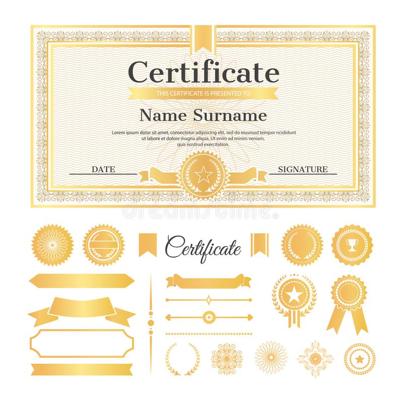 Zertifikat-Probe Mit Stempel-Vektor-Illustration Vektor Abbildung ...