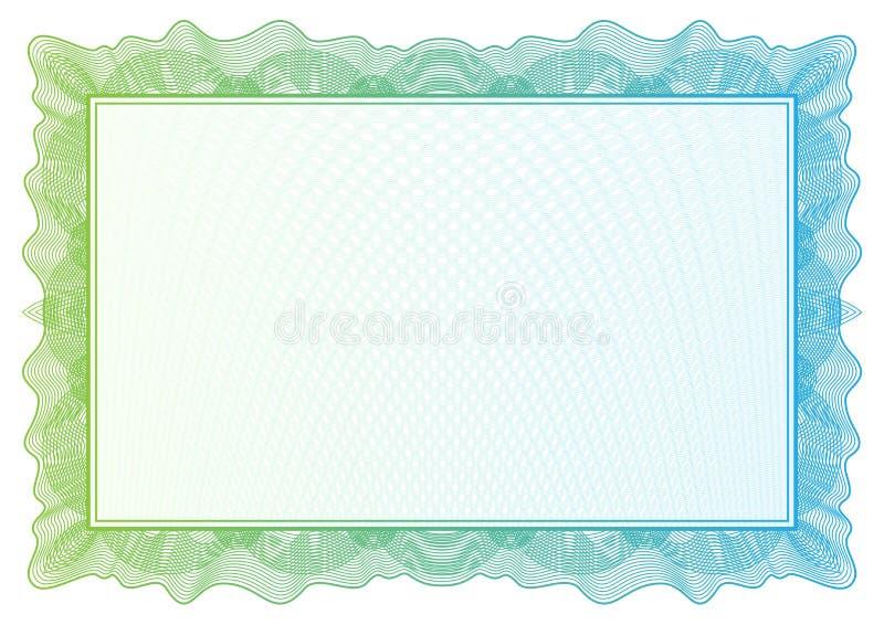 Zertifikat. Vektormusterwährung und -diplome vektor abbildung