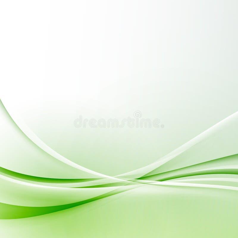 Zertifikathintergrund der Zusammenfassung der grünen Welle Grenzmoderner vektor abbildung