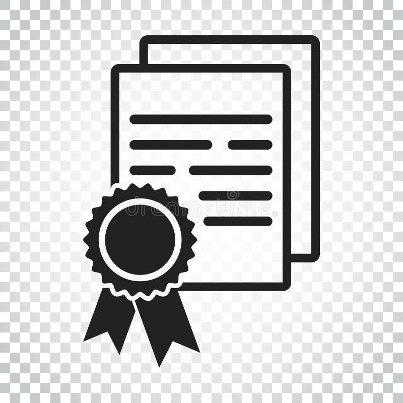 Download Zertifikatikone Diplomsymbol Flache Vektorillustration Ist Eingeschaltet Vektor Abbildung - Illustration von stempel, leerzeichen: 96935777