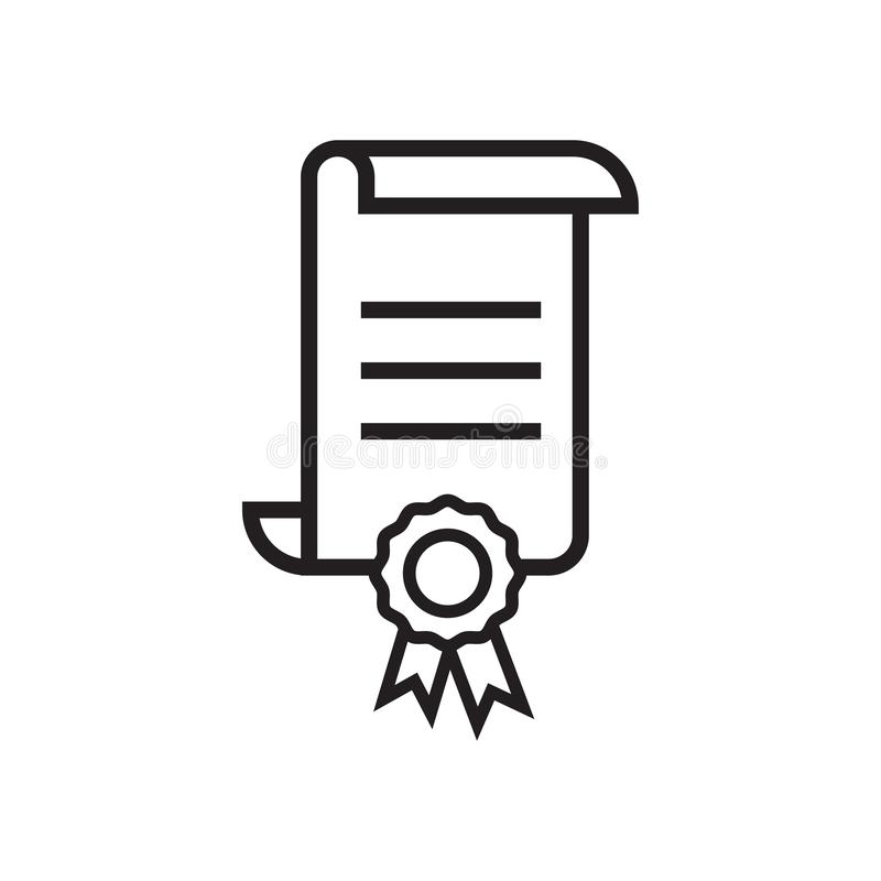 Zertifikatikonengrafikdesign-Schablonenvektor stock abbildung